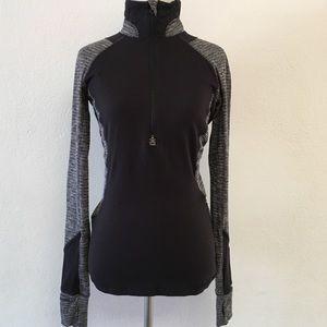 Lululemon Herringbone Black Long Sleeve Top Size 4